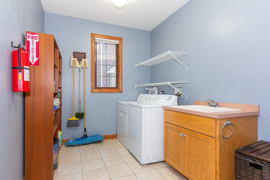 Real Estate Photography - 416 Shadow Creek Dr, Palos Heights, IL, 60463 - Laundry Room