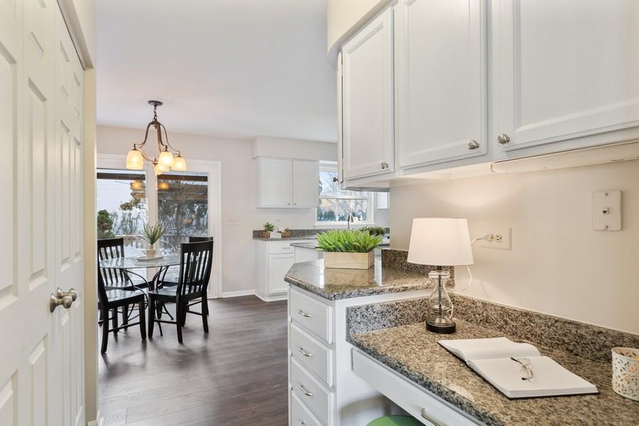 Real Estate Photography - 191 Wellington Ct, Grayslake, IL, 60030 - Kitchen Desk