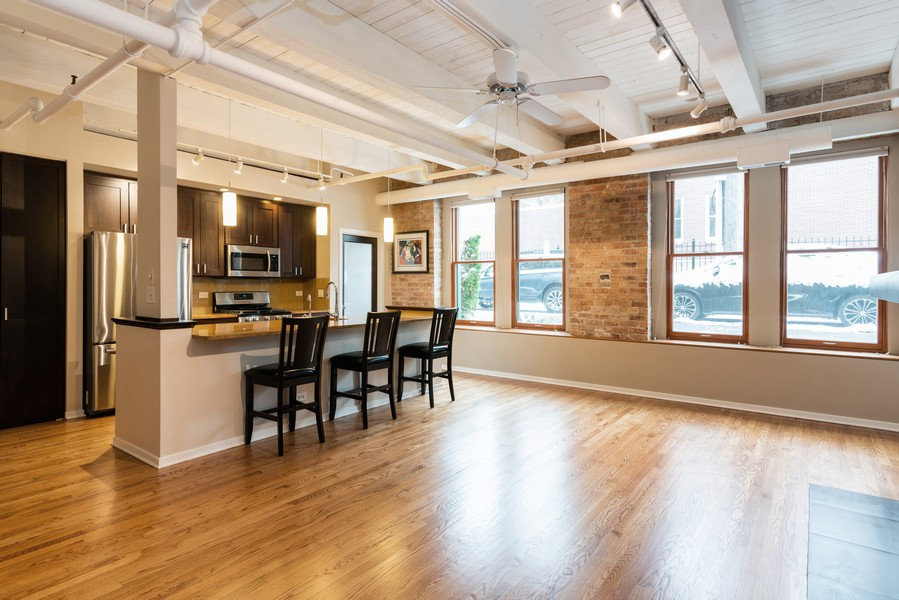 Real Estate Photography - 1335 West Altgeld St, 1C, Chicago, IL, 60614 - Kitchen/Dining