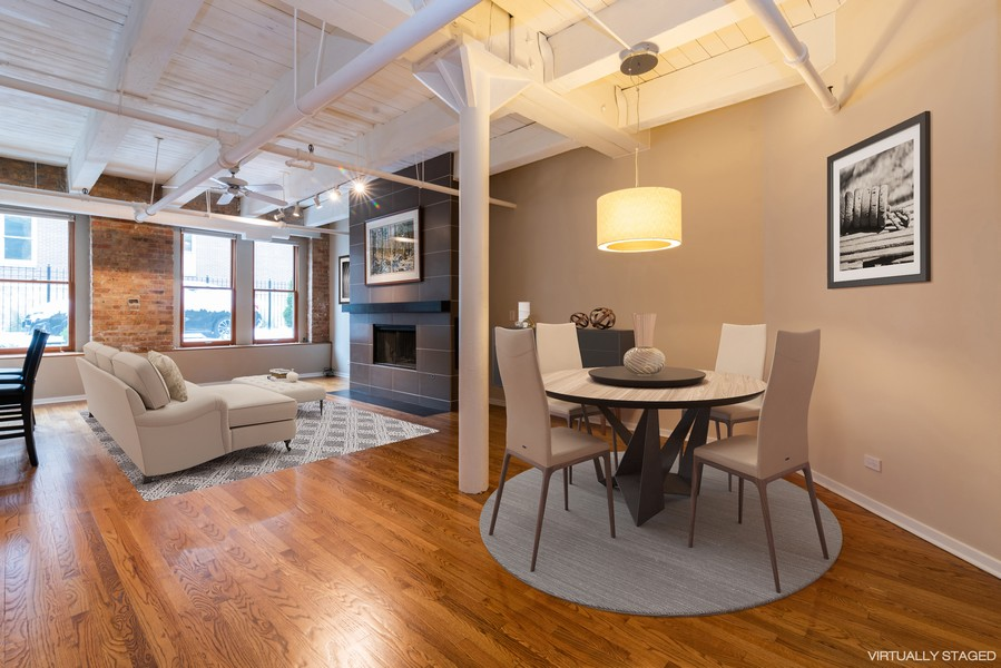 Real Estate Photography - 1335 West Altgeld St, 1C, Chicago, IL, 60614 - Living Room / Dining Room