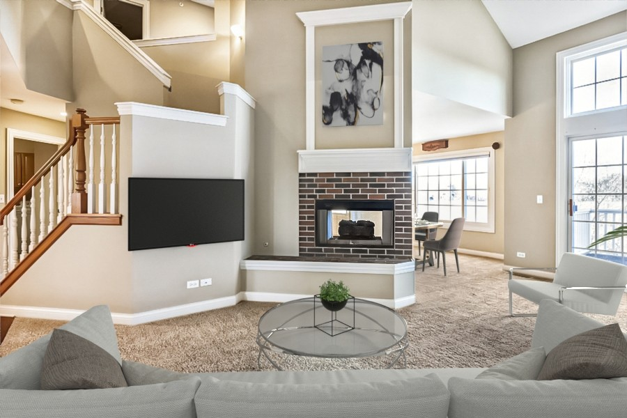 Real Estate Photography - 33051 North Stone Manor Dr, Grayslake, IL, 60030 - Family Room