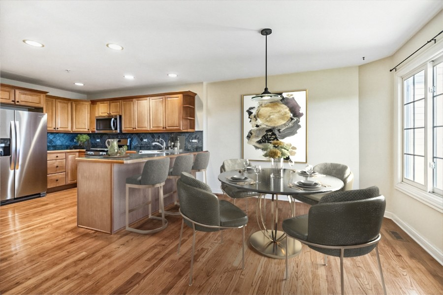 Real Estate Photography - 33051 North Stone Manor Dr, Grayslake, IL, 60030 - Kitchen and Eating Area
