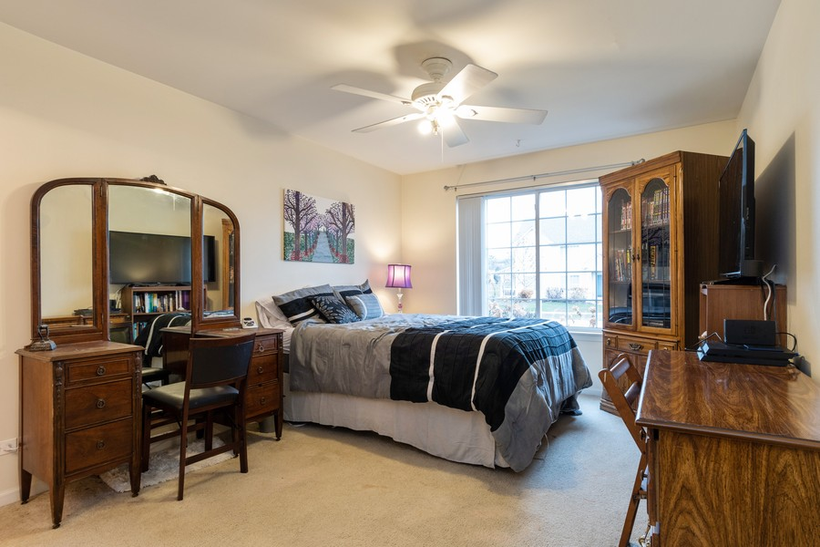 Real Estate Photography - 655 Lincoln Station Dr, 1002, Oswego, IL, 60543 - Master Bedroom