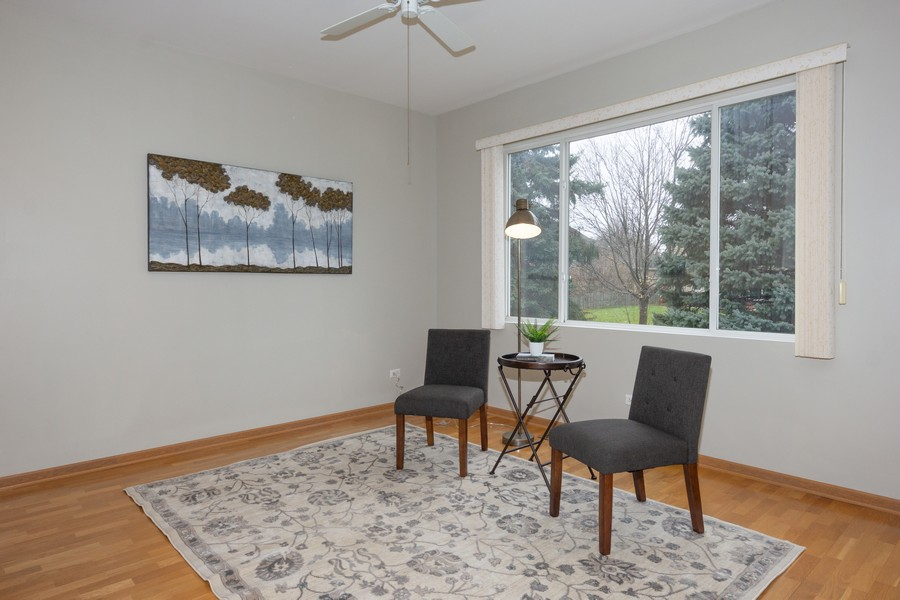 Real Estate Photography - 341 Cascade Ln, Oswego, IL, 60543 - Living Room with Big Window View
