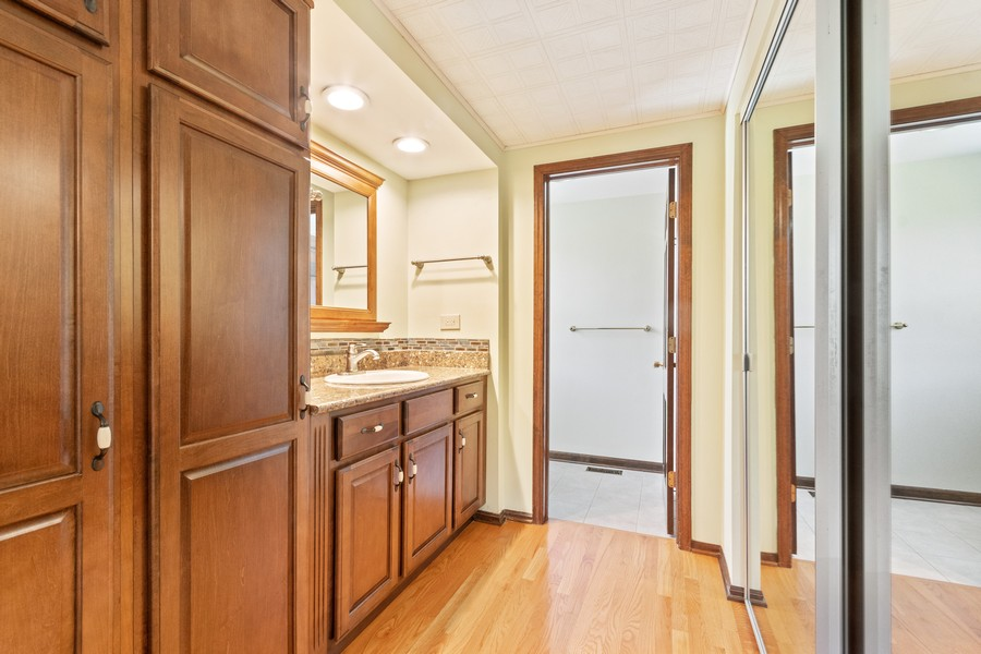 Real Estate Photography - 1552 Chippewa Dr, Naperville, IL, 60563 - The MST bath- remodeled in style