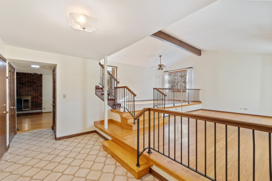Real Estate Photography - 1552 Chippewa Dr, Naperville, IL, 60563 - Welcoming foyer with LR/DR views