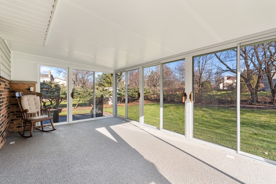 Real Estate Photography - 1552 Chippewa Dr, Naperville, IL, 60563 - Hard to find sunroom!