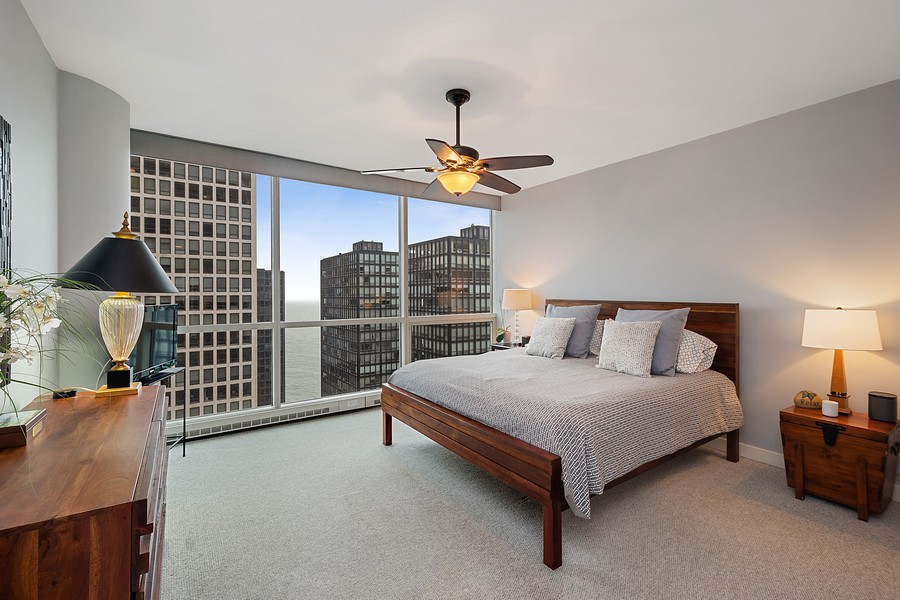 Real Estate Photography - 250 East Pearson St, 2302, Chicago, IL, 60611 - Master Bedroom