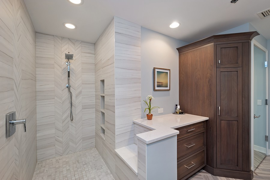 Real Estate Photography - 250 East Pearson St, 2302, Chicago, IL, 60611 - Master Bathroom