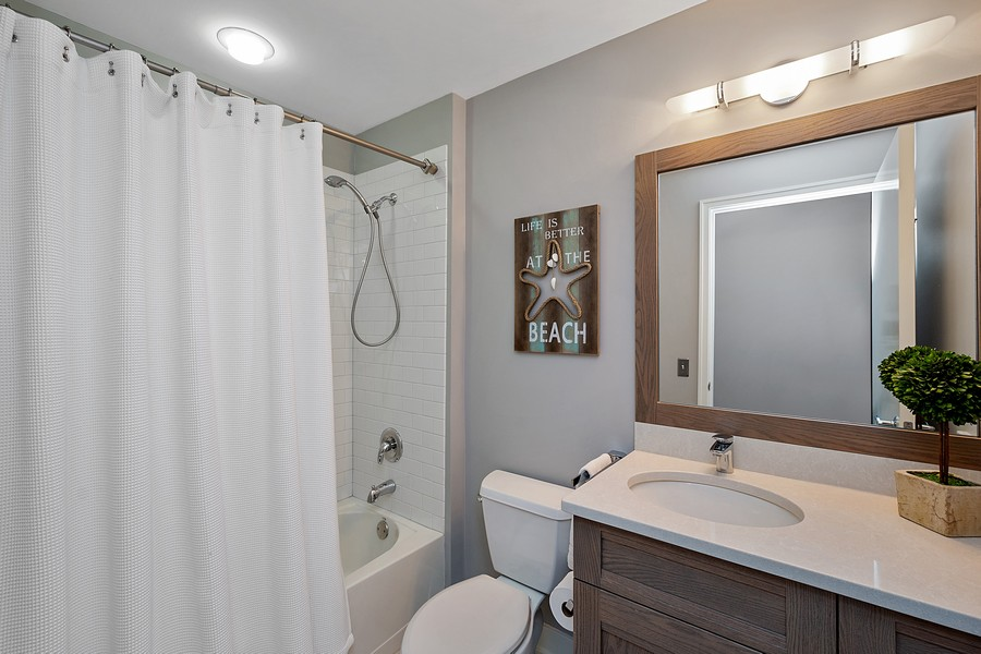Real Estate Photography - 250 East Pearson St, 2302, Chicago, IL, 60611 - 2nd Bathroom