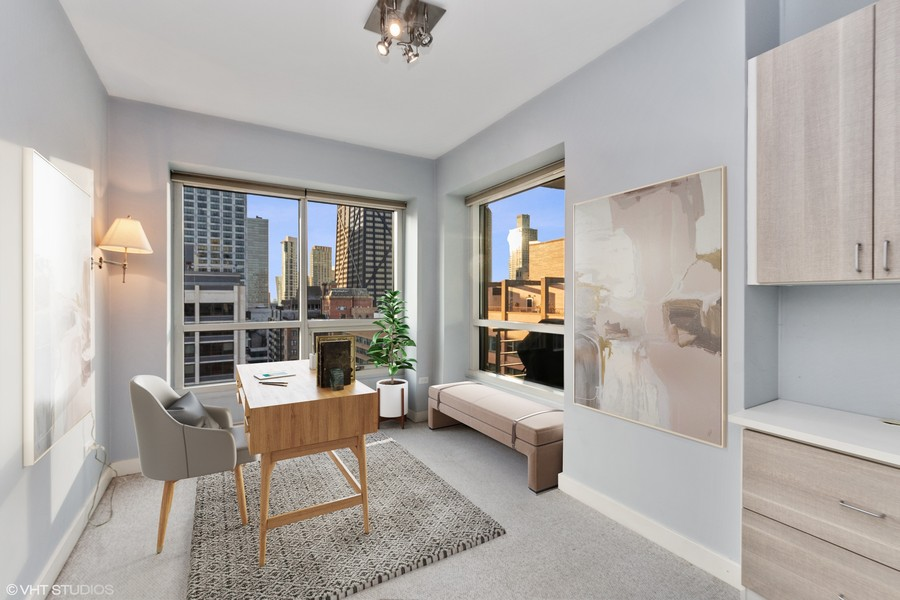 Real Estate Photography - 250 East Pearson St, 2302, Chicago, IL, 60611 - 2nd Bedroom/Office