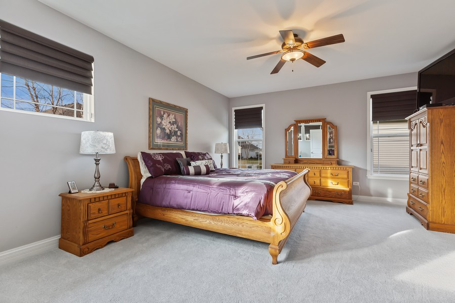 Real Estate Photography - 2811 Melrose Ln, Naperville, IL, 60564 - Master Bedroom