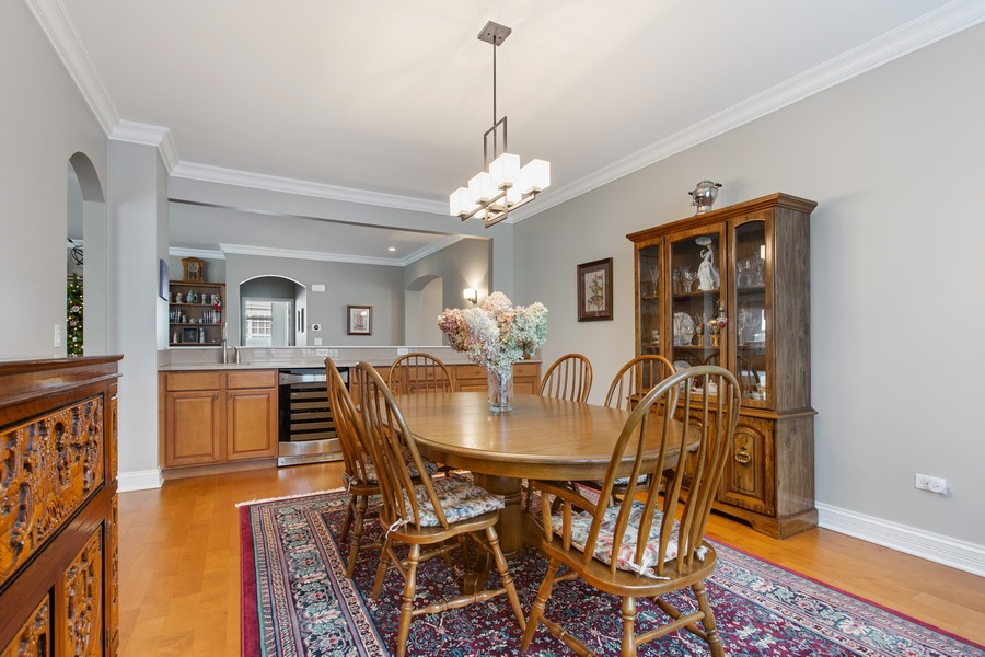 Real Estate Photography - 2811 Melrose Ln, Naperville, IL, 60564 - Dining Room