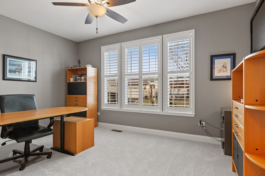 Real Estate Photography - 2811 Melrose Ln, Naperville, IL, 60564 - Office