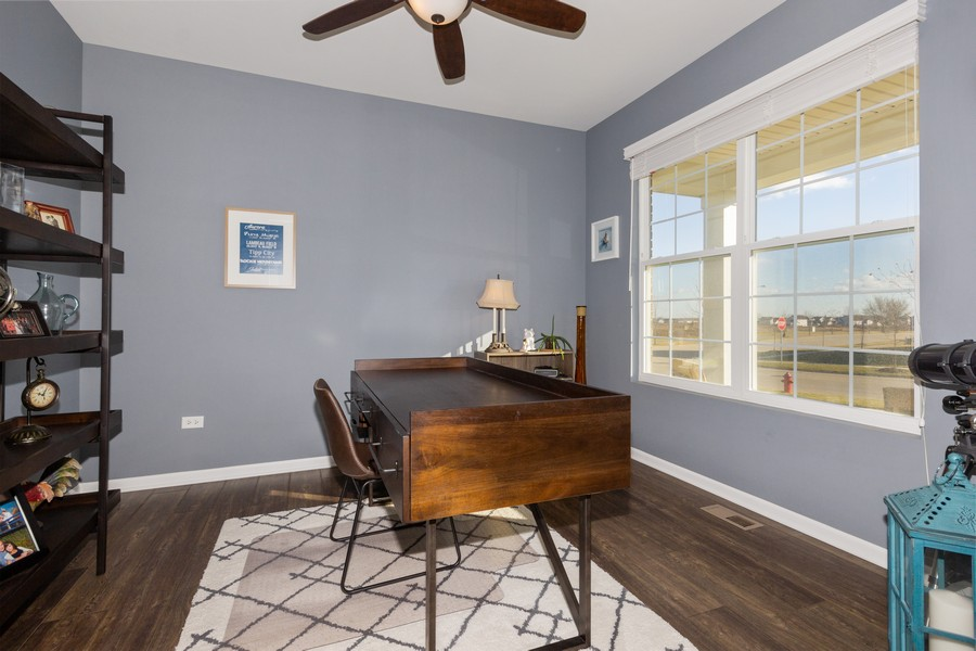 Real Estate Photography - 7801 Bellflower Ln, Joliet, IL, 60431 - Dining Room/Office