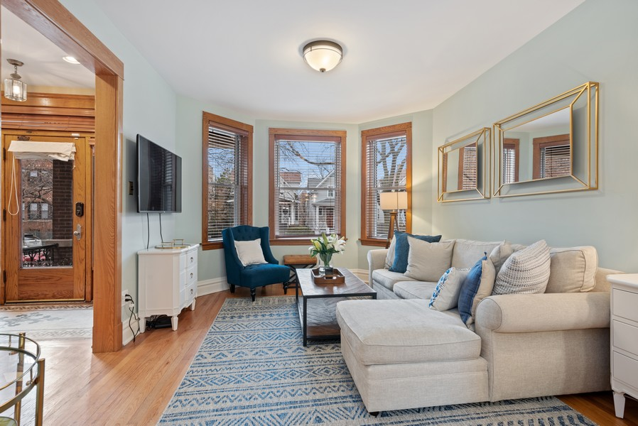 Real Estate Photography - 1715 West Carmen Ave, Chicago, IL, 60640 - Living Room