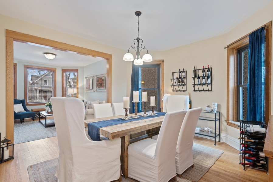 Real Estate Photography - 1715 West Carmen Ave, Chicago, IL, 60640 - Living Room / Dining Room