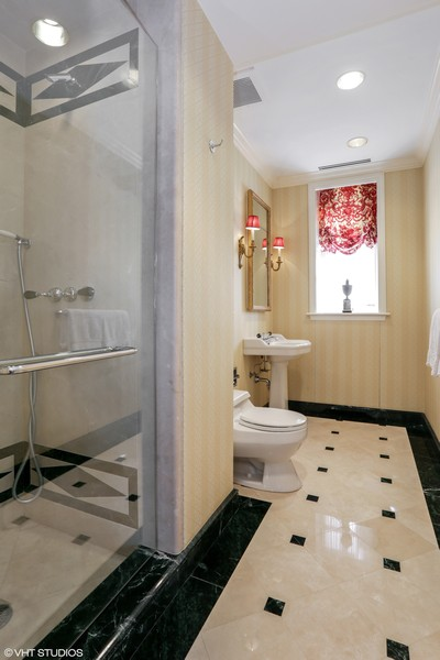 Real Estate Photography - 2450 North Lakeview Ave, 10, Chicago, IL, 60614 - Hall Bathroom