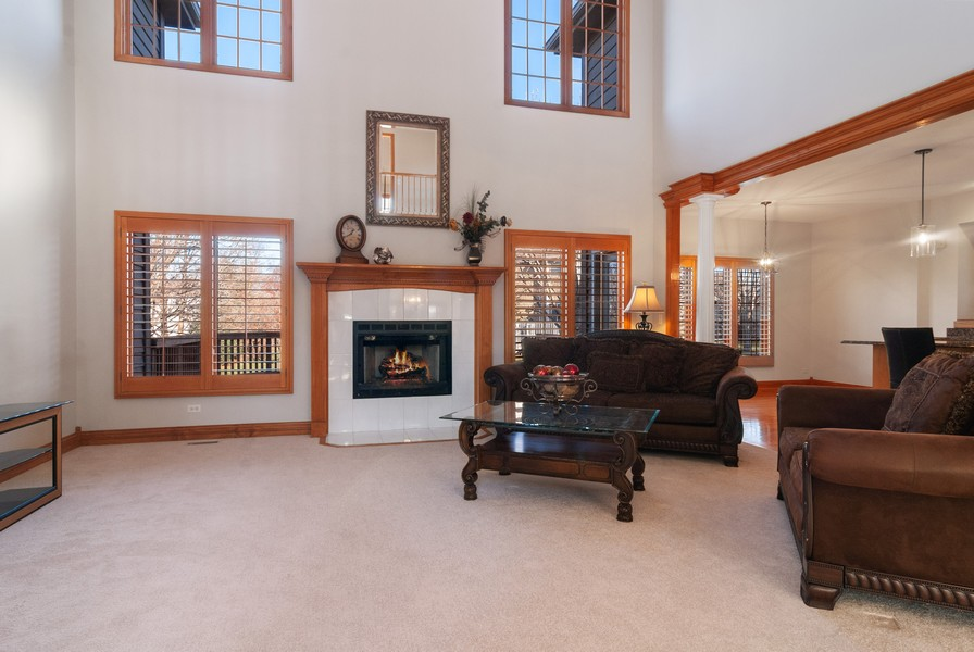 Real Estate Photography - 2508 Sutton Ln, Aurora, IL, 60502 - Family Room