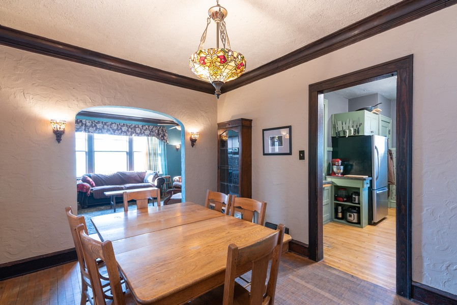 Real Estate Photography - 21 Woodland Ave, Elgin, IL, 60123 - Dining Room