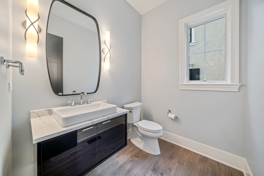 Real Estate Photography - 4539 CLAUSEN, WESTERN SPRINGS, IL, 60558 - Powder Room