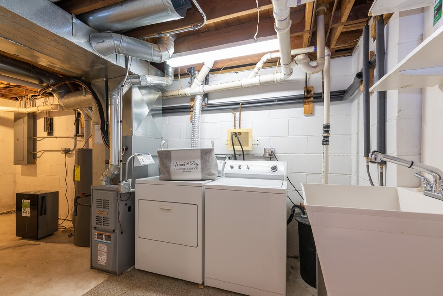 Real Estate Photography - 2717 Cherry Dr, Wonder Lake, IL, 60097 - Laundry Room