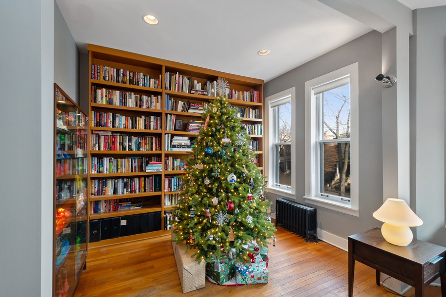 Real Estate Photography - 2630 North Troy St, Chicago, IL, 60647 - 2nd Floor Sitting Room 2630 N Troy