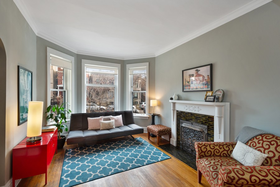 Real Estate Photography - 2630 North Troy St, Chicago, IL, 60647 - 1st Floor Living Room 2630 N Troy