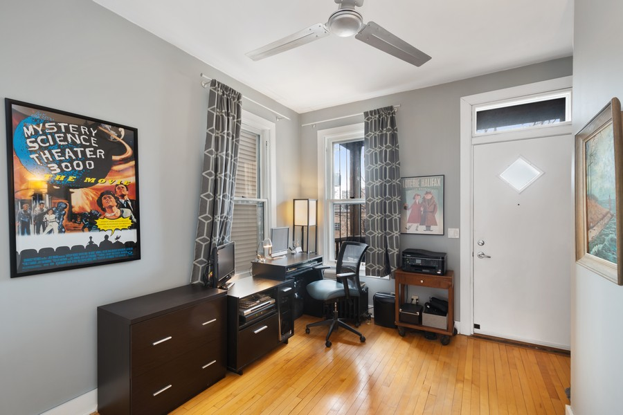 Real Estate Photography - 2630 North Troy St, Chicago, IL, 60647 - 2nd Floor Bedroom 2 / Office 2630 N Troy