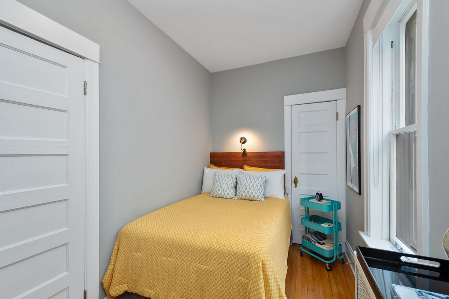 Real Estate Photography - 2630 North Troy St, Chicago, IL, 60647 - 1st Floor Bedroom 2 2630 N Troy