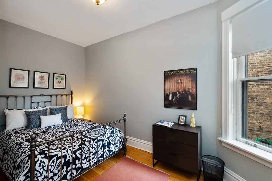 Real Estate Photography - 2630 North Troy St, Chicago, IL, 60647 - 1st Floor Bedroom 1 2630 N Troy
