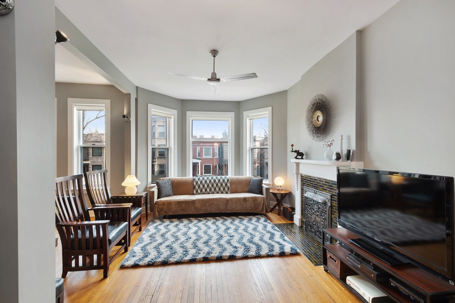 Real Estate Photography - 2630 North Troy St, Chicago, IL, 60647 - 2nd Floor Living Room 2630 N Troy