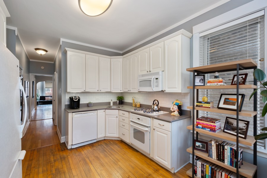 Real Estate Photography - 2630 North Troy St, Chicago, IL, 60647 - 1st Floor Kitchen 2630 N Troy