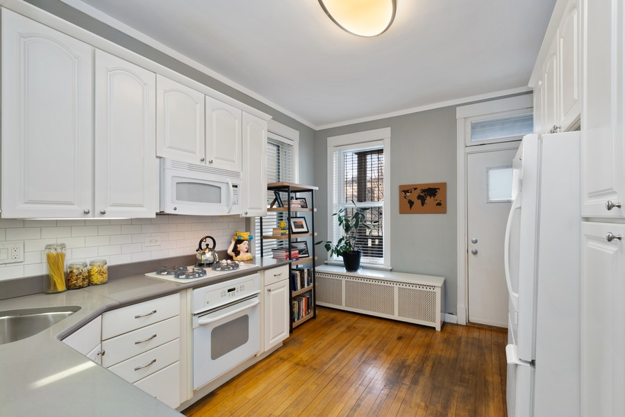 Real Estate Photography - 2630 North Troy St, Chicago, IL, 60647 - 1st Floor Kitchen