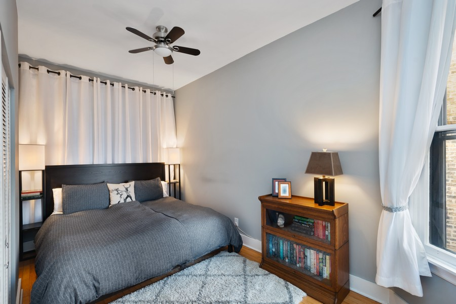 Real Estate Photography - 2630 North Troy St, Chicago, IL, 60647 - 2nd Floor Master Bedroom 2630 N Troy