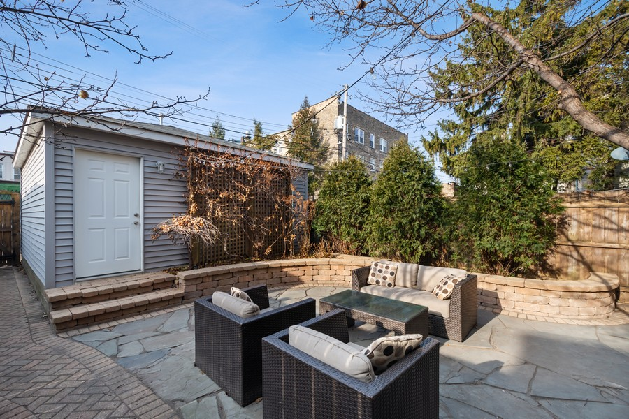 Real Estate Photography - 2630 North Troy St, Chicago, IL, 60647 - Back Patio 2630 Troy