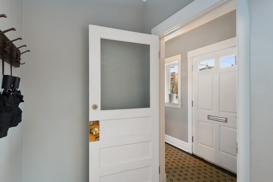 Real Estate Photography - 2630 North Troy St, Chicago, IL, 60647 - Vestibule 2630 N Troy