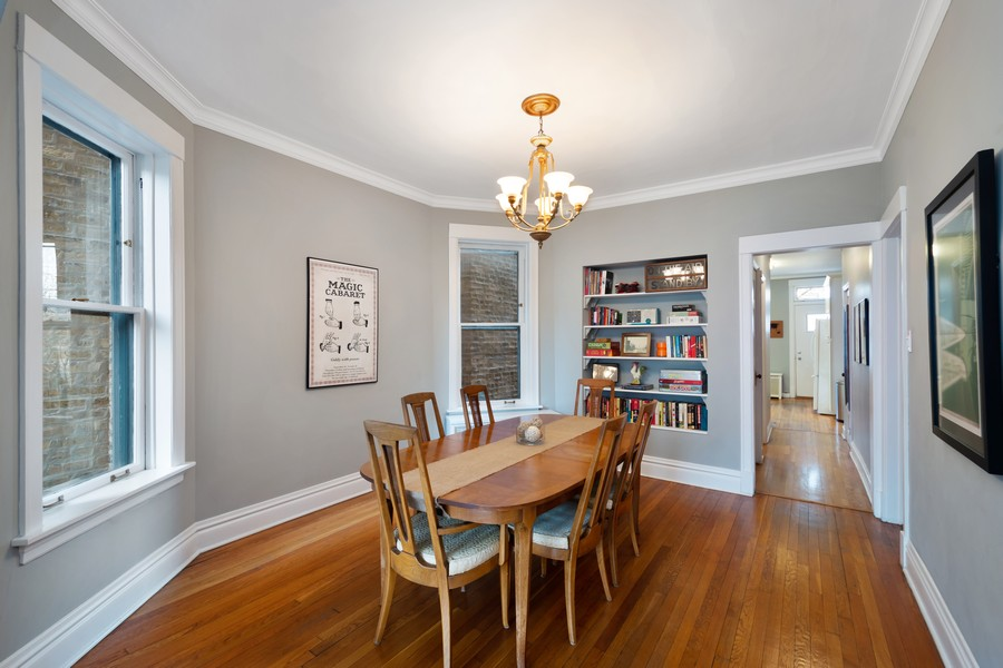 Real Estate Photography - 2630 North Troy St, Chicago, IL, 60647 - 1st Floor Dining Room 2630 N Troy