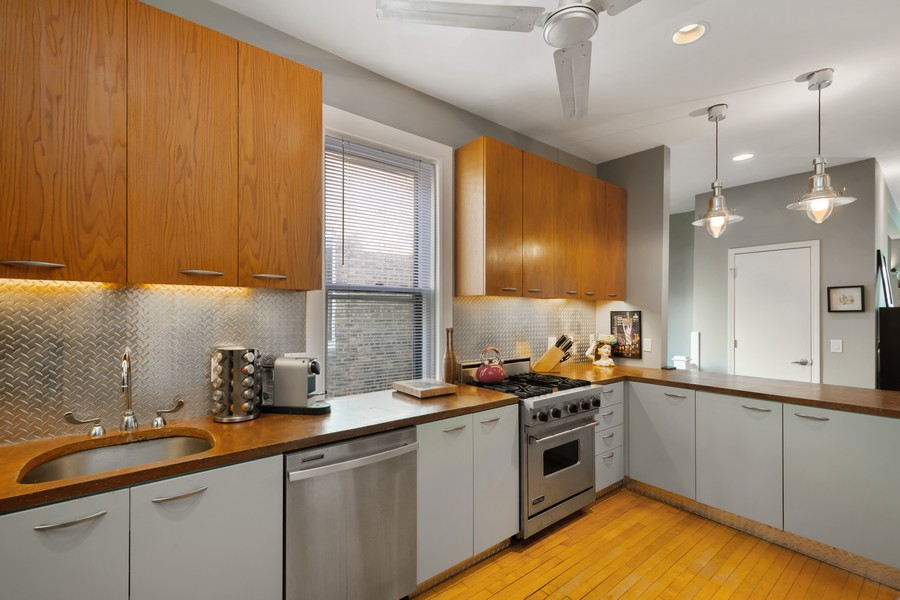 Real Estate Photography - 2630 North Troy St, Chicago, IL, 60647 - 2nd Floor Kitchen 2630 N Troy