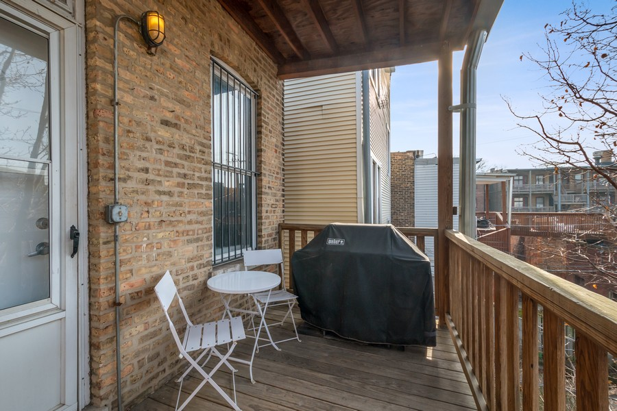 Real Estate Photography - 2630 North Troy St, Chicago, IL, 60647 - 2nd Floor Deck 2630 N Troy