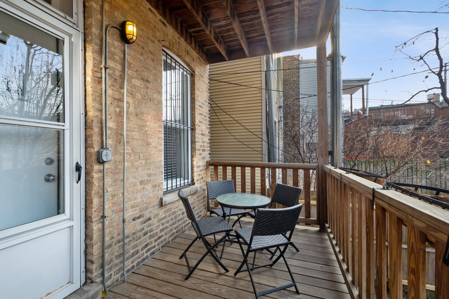 Real Estate Photography - 2630 North Troy St, Chicago, IL, 60647 - 1st Floor Deck