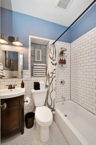 Real Estate Photography - 2630 North Troy St, Chicago, IL, 60647 - 1st floor Bathroom 2630 N Troy