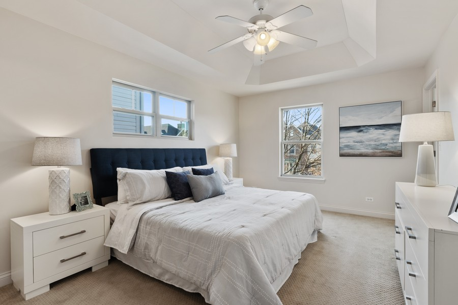 Real Estate Photography - 2307 Sundrop Dr, Glenview, IL, 60026 - Master Bedroom
