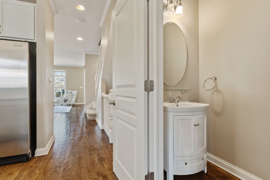 Real Estate Photography - 2307 Sundrop Dr, Glenview, IL, 60026 - Half Bath on Main Floor