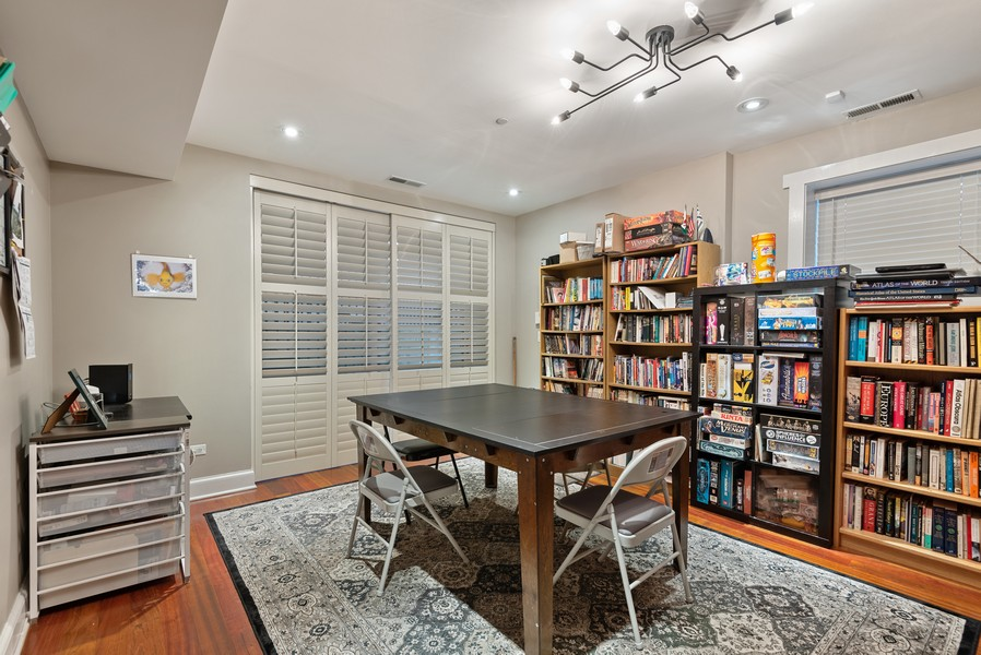 Real Estate Photography - 1112 Church St, 1, Evanston, IL, 60201 - Gaming/crafting/office/4th bedroom