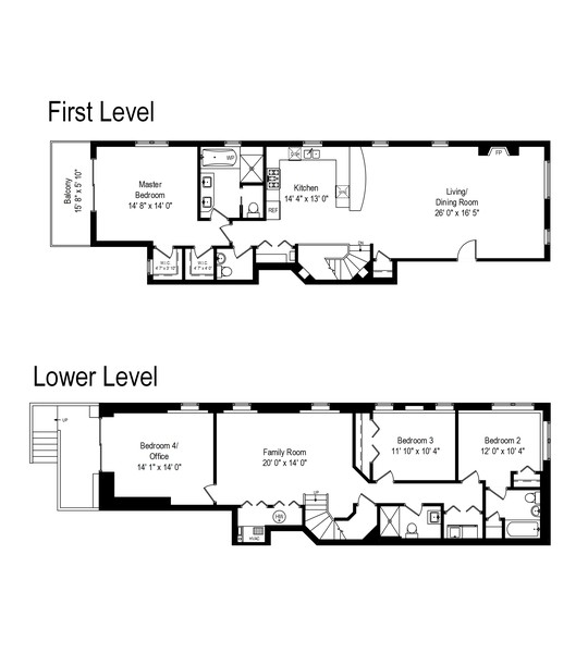 Real Estate Photography - 1112 Church St, 1, Evanston, IL, 60201 - Floor Plan