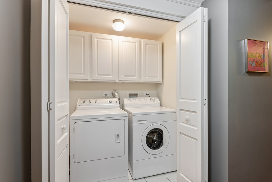 Real Estate Photography - 1112 Church St, 1, Evanston, IL, 60201 - Laundry Room
