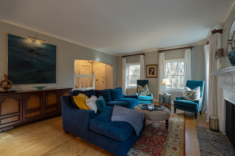 Real Estate Photography - 2630 Lawndale Ave, Evanston, IL, 60201 - Living Room