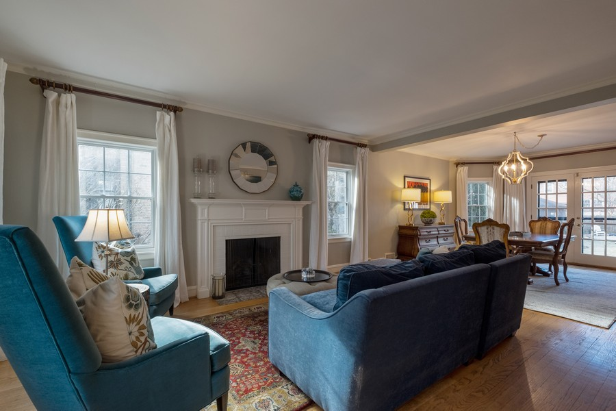 Real Estate Photography - 2630 Lawndale Ave, Evanston, IL, 60201 - Living Room / Dining Room