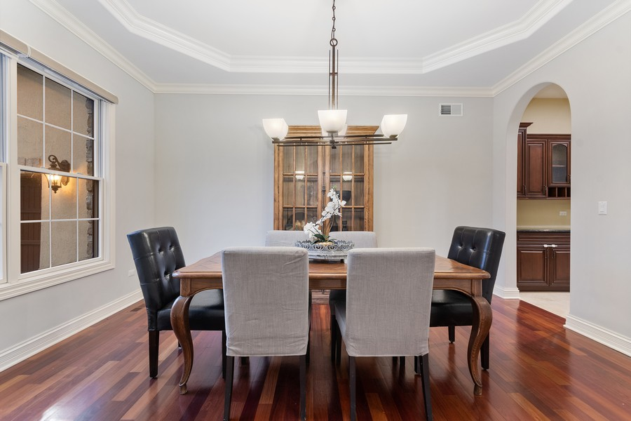 Real Estate Photography - 815 Iris Ln, Naperville, IL, 60540 - Dining Room